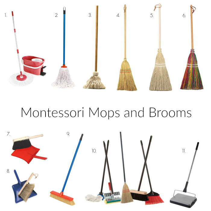 Where to buy Montessori Mops and Brooms USA