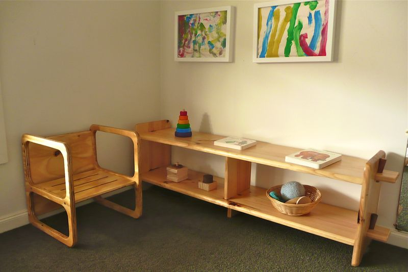 Infant Montessori Shelves at How we Montessori