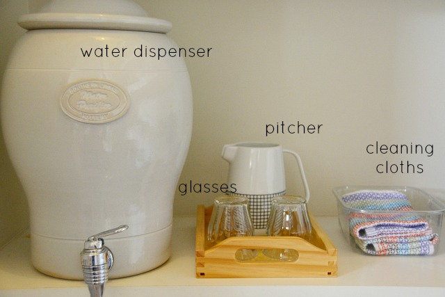Drink station at How we Montessori