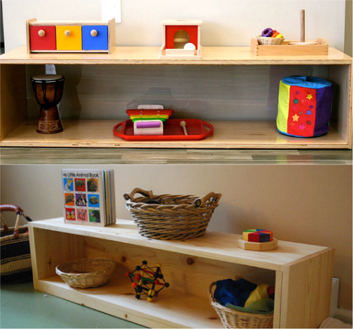 Toddler Shelves to Love at How we Montessori