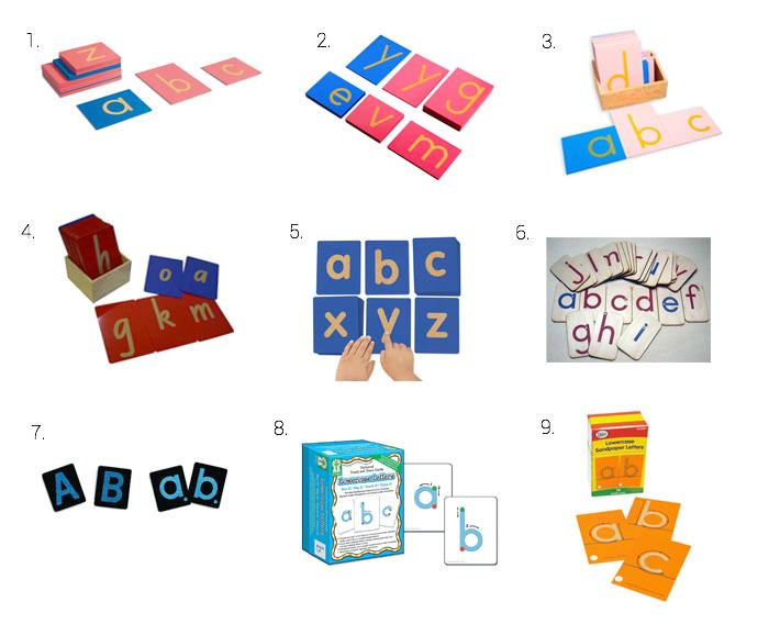 Montessori Sandpaper Letters and Alternative Options at How we Montessori