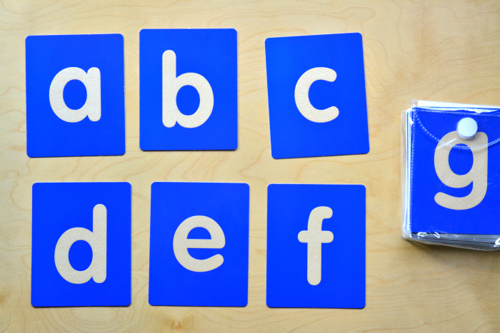 lakeshore lowercase tactile letters at how we montessori childcomau