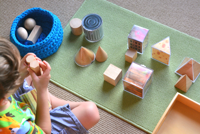 How we Montessori Otis with real world geometric shapes