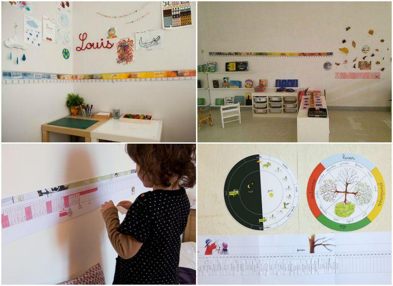 Poutres du temps at How we Montessori