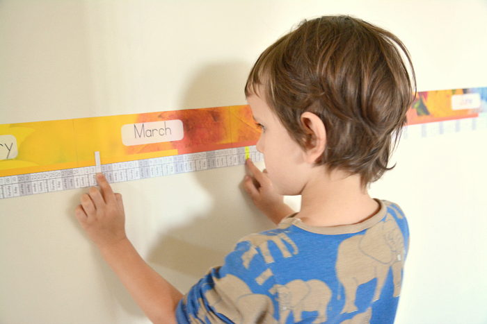 Montessori Linear Calendar at How we Montessori