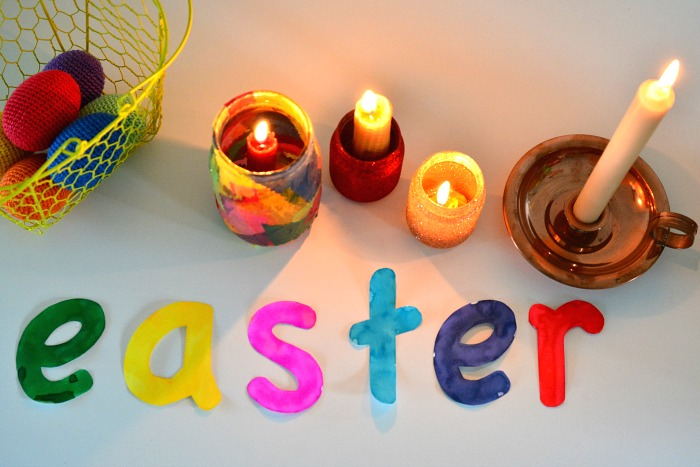 Easter 2016 at How we Montessori Easter Table