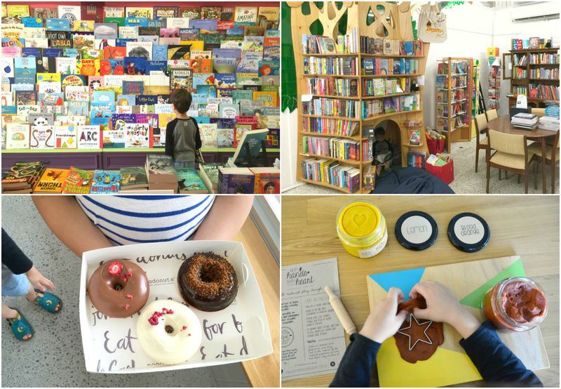 Today - bookshop, donuts and playdough