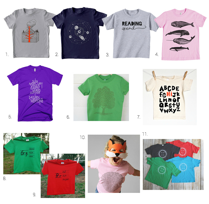 Montessori, Science and Fun Tees for Children at How we Montessori