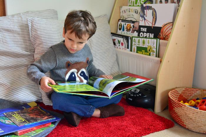 Otis reading at How we Montessori