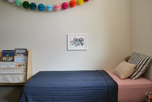 Caspar and Otis' shared Montessori bedroom at How we Montessori