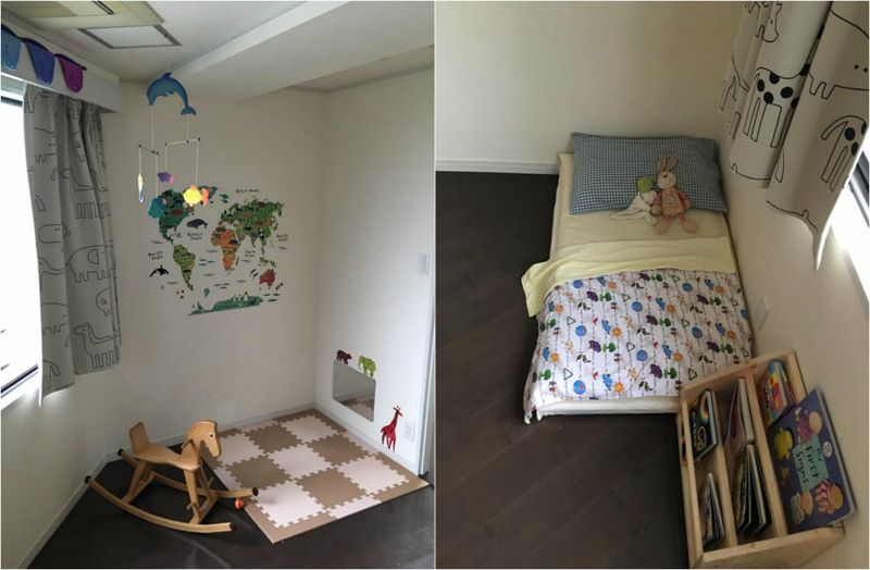 Montessori home, floor bed in Japan