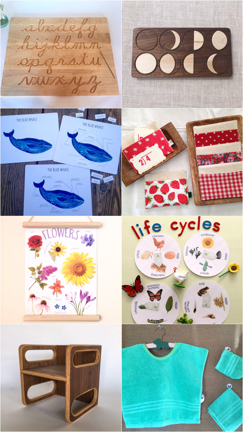 Sweet Montessori Finds on Etsy at HWM