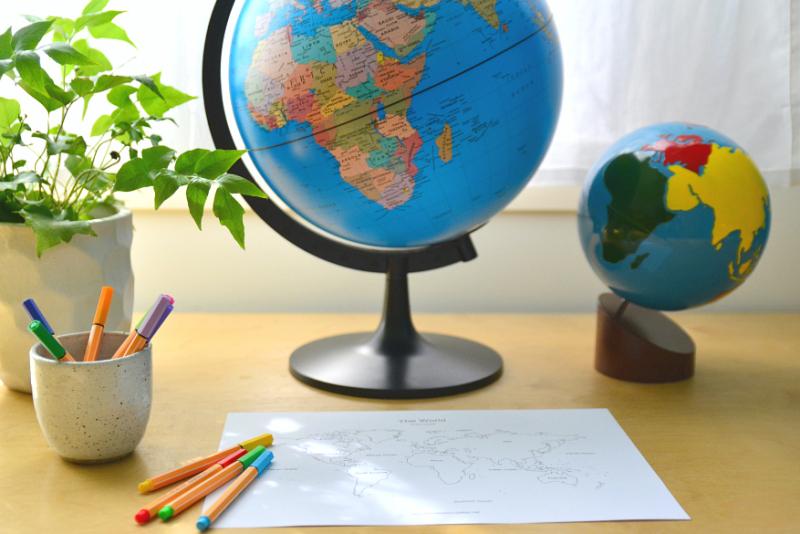 HWM Montessori Globes for the Home