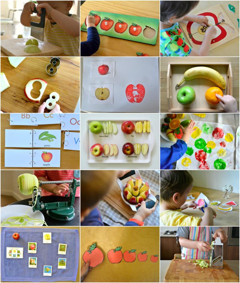 Montessori Apple Activities at How we Montessori