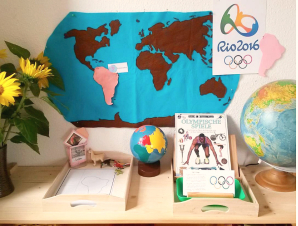 My Nature Place and Montessori Summer Olympic Games Shelf