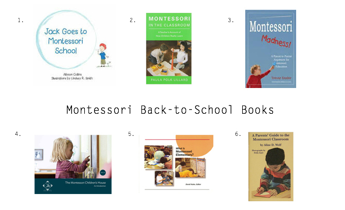 Books about Montessori schools for parents and their chidlren at How we Montessori