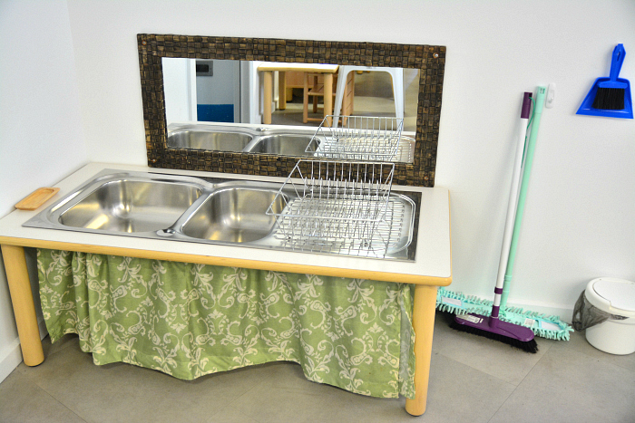 MIC at How we Montessori - toddler sink area