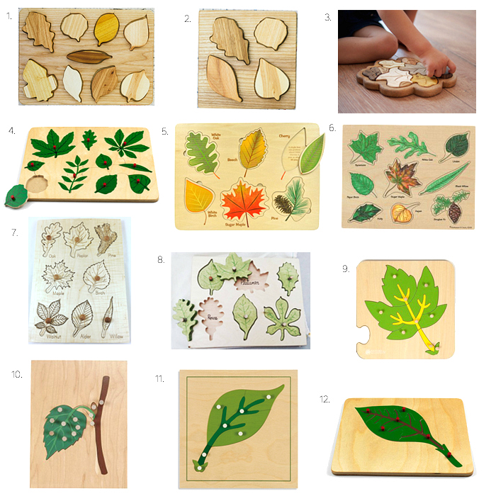 Montessori Leaf Puzzles - for all ages. At How we Montessori.