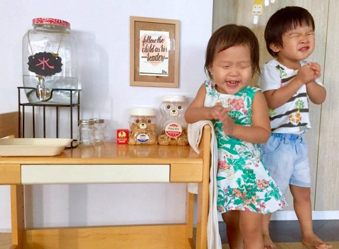 Three Minute Montessori - drink and snack station