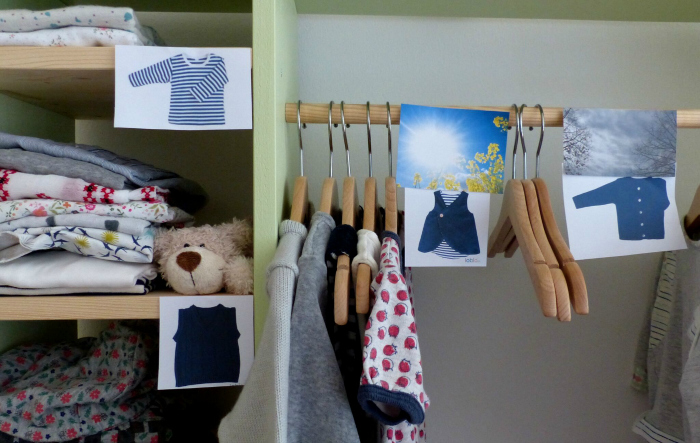 Montessori Home - independent dressing