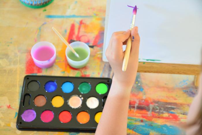 Caspar painting, Montessori tips for the left handed child