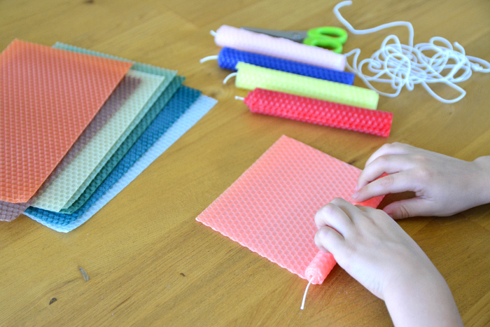 DIY Beeswax Candles at How we Montessori