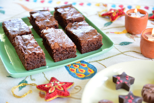 FInished Brownies with Oxfam