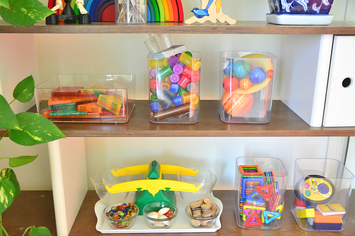 Shelves at How we Montessori Ddecember 2016