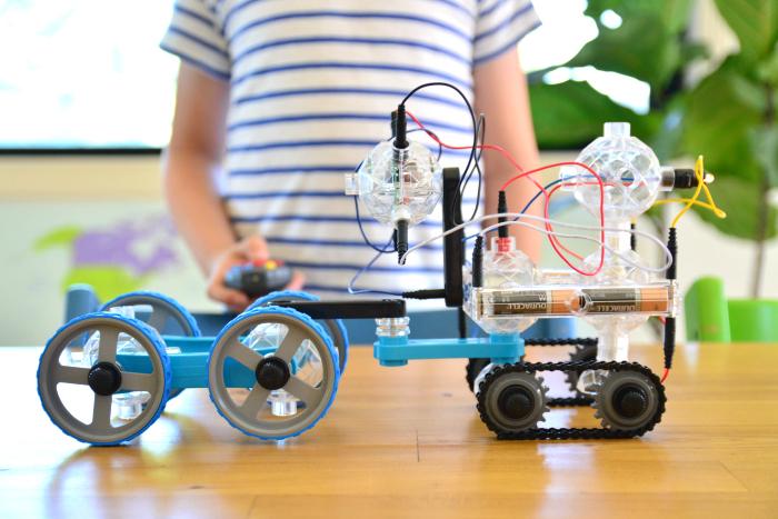 Caspar's Robotic Creation using IQ Key at How we Montessori