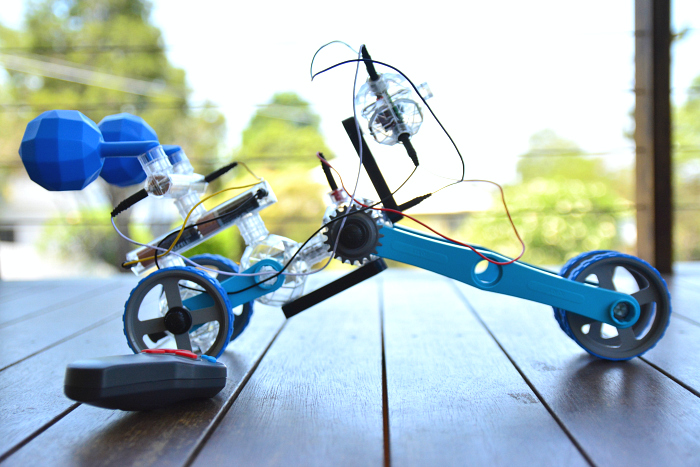 Caspar's latest robotics creation