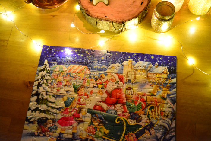 Christmas Jigsaw at How we Montessori