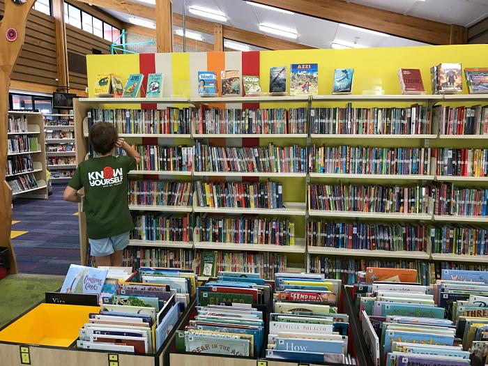 Caspar at local library