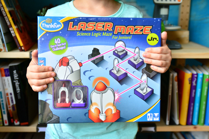 Otis with Laser Maze Jr at How we Montessori
