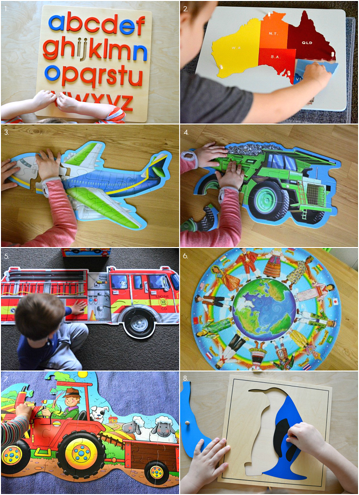 Montessori Puzzles at Three Years at How we Montessori