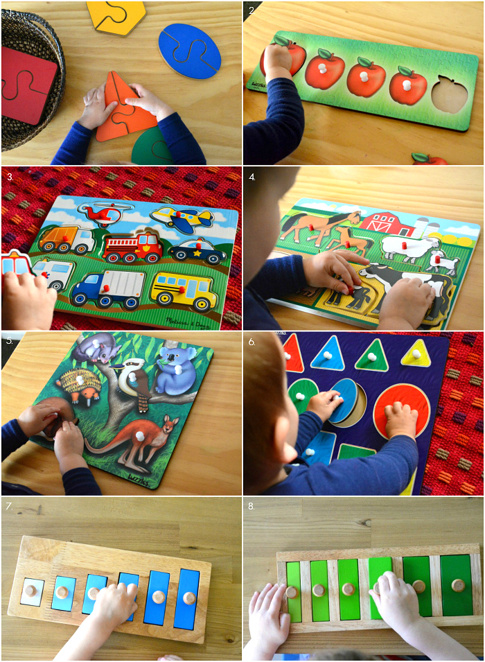 Puzzles for Two Years at How we Montessori