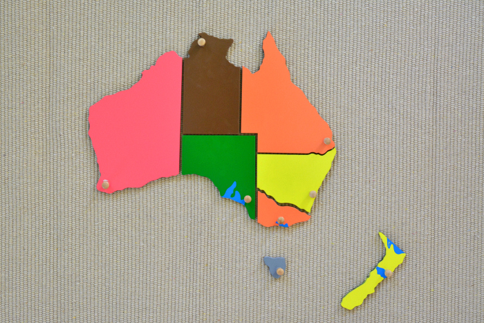Australiasia Puzzle Map on Work Mat