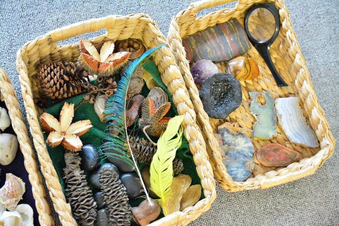 MELA activities  bush and earth treasure baskets