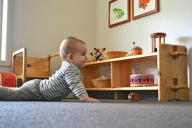 Otis low shelves at How we Montessori  Montessori Nursery