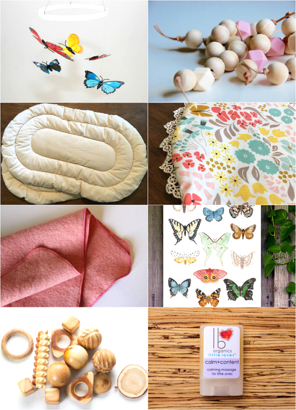 Montessori Newborn and Infant Finds on Etsy at HWM
