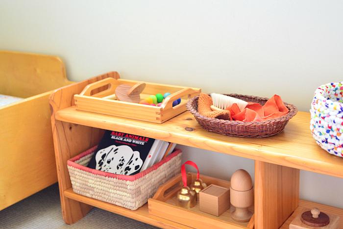 Rearranging Infant Shelves at HWM