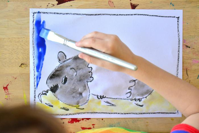 Artventure at How we Montessori  Otis painting