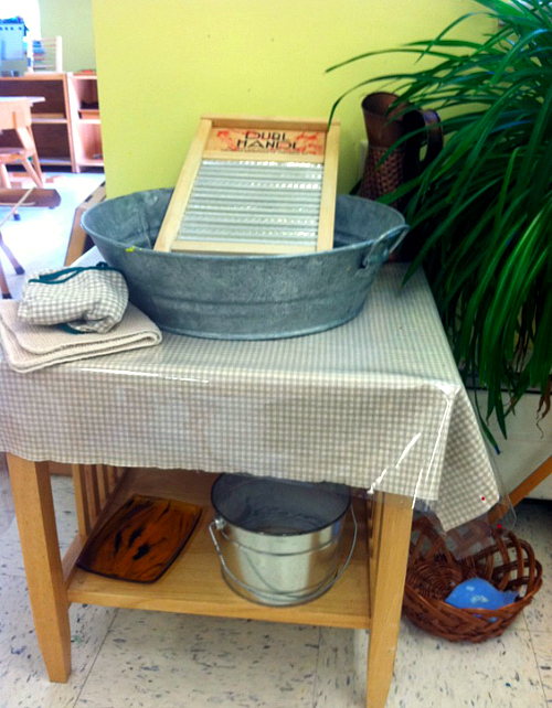 Montessori Wash Table - Pinterest