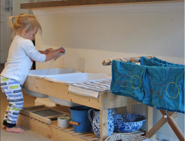 Wash table at House of Montessori