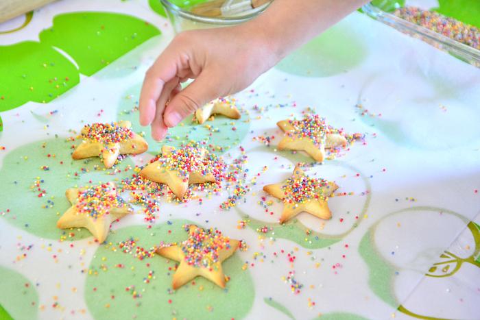 Otis with biscuit dough at How we Montessori