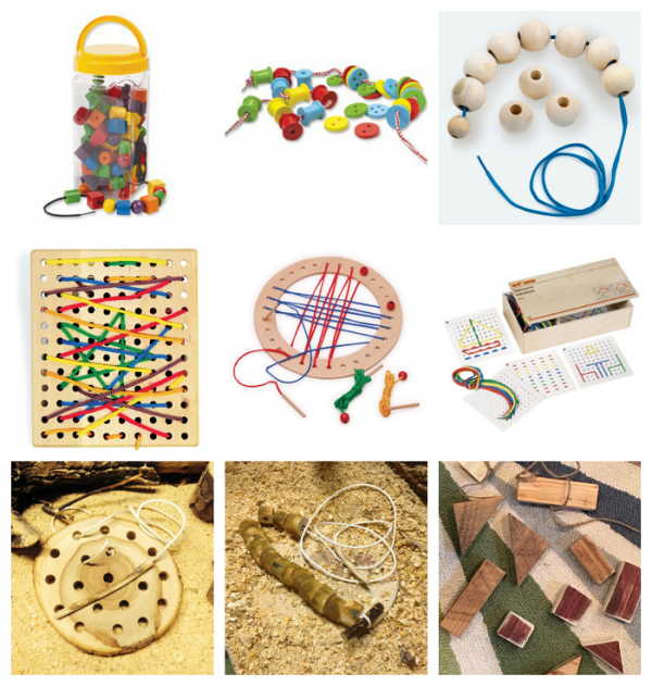 Threading Activities and Materials at How we Montessori