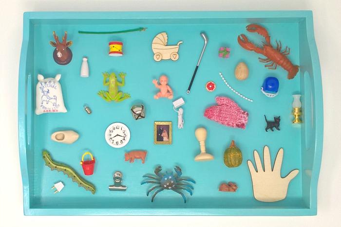 Blue Objects at Montessori Enterprises