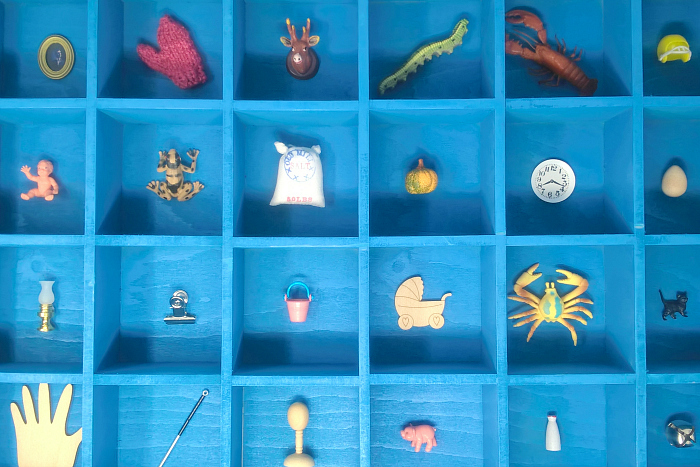 Blue Objects at Montessori Enterprises on HWM