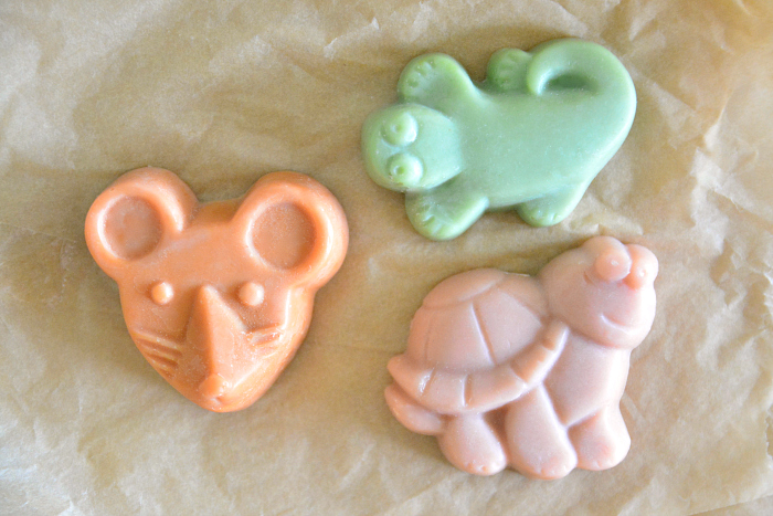 Cute palm oil free children's soaps from Biome