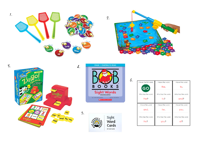 Fun Materials for Learning Sight Words at HWM