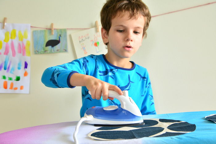 Otis ironing fabric at How we Montessori